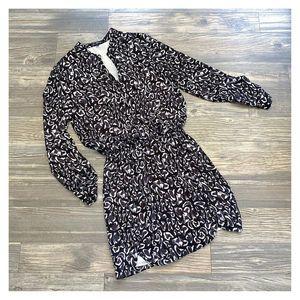 Sam Edelman Leopard Print Tab Sleeve Shirt Dress